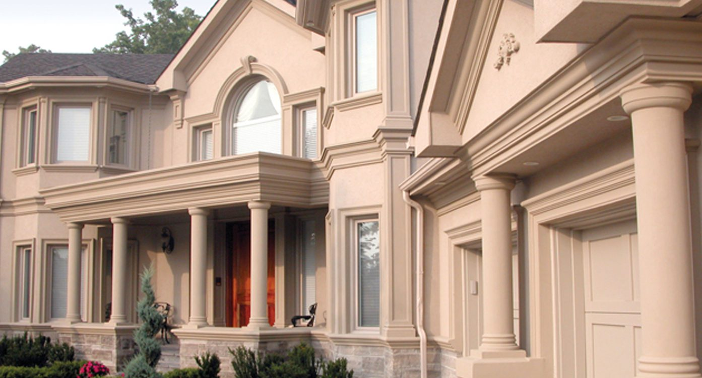Exterior stucco stone siding installation toronto exterior by design How to plaster a house exterior