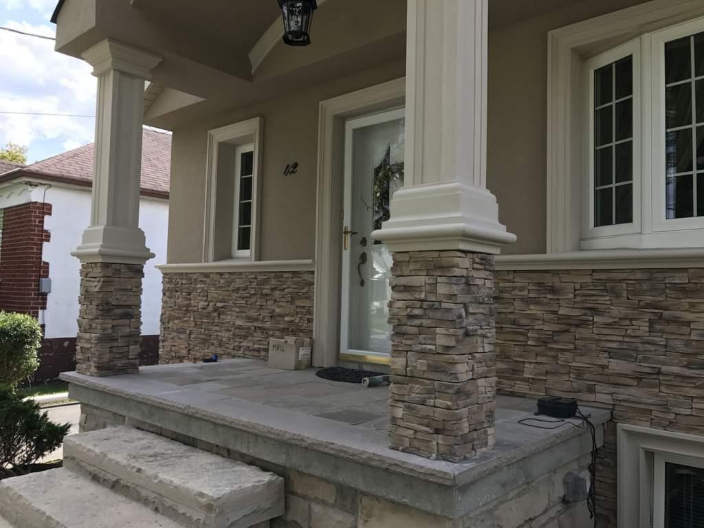 toronto stone siding exterior design