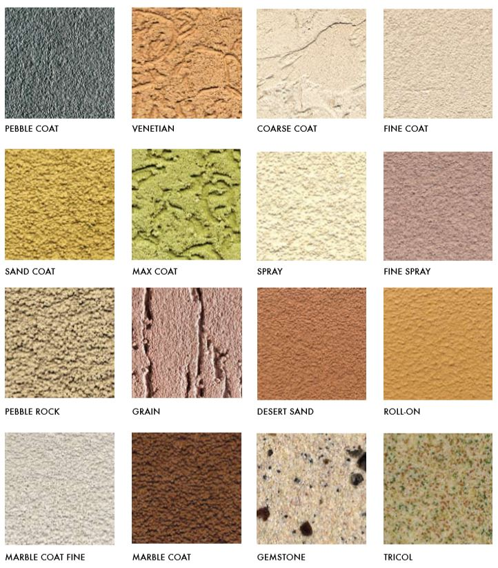 stucco finish options