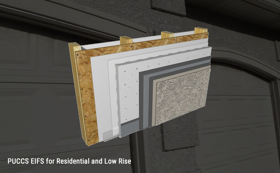 PUCCS EUFS stucco for Residential and low rise
