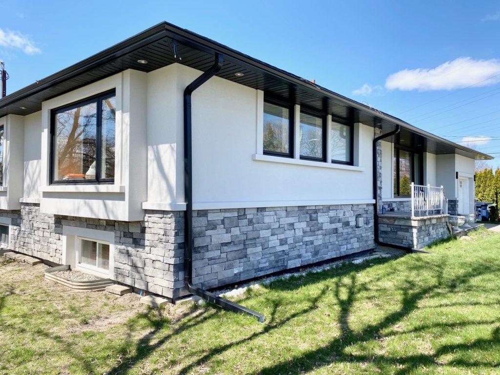 exterior stucco on custom home