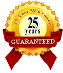25 years warranty Logo