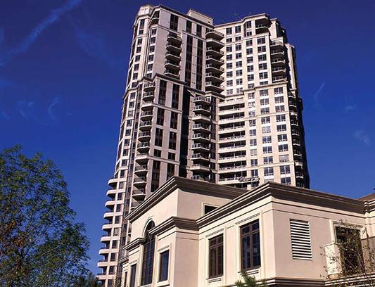 Apartment Building with Amazing Stucco Decor North York