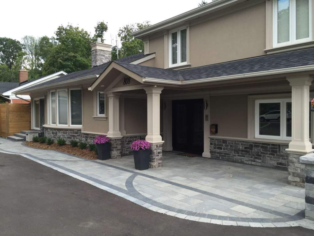 Amazing Home Design with Stone Siding and Stucco Beige Decor Woodbridge