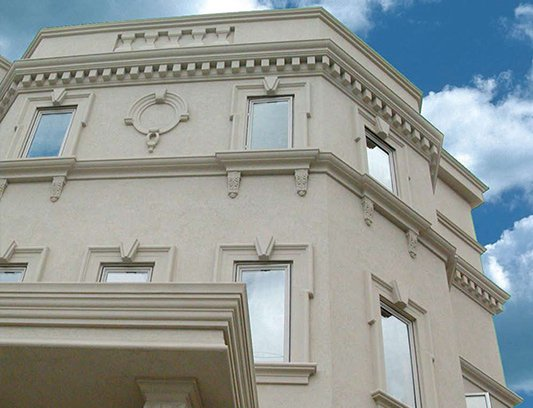 Classic Exterior Design with Stucco on Apartment Building North York