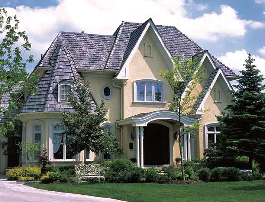 Classic Home Exterior Design with Beige Color Stucco Markham